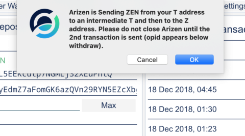 arizen send z transaction